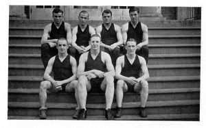 Wrestling team in 1923 Quips and Cranks