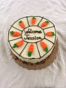 Jessica Cottle's Welcome Cake