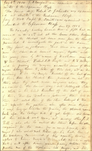 This image is a scan of the first page of the faculty minutes from December 27, 1853. The typescript appears in the main body of the posting.