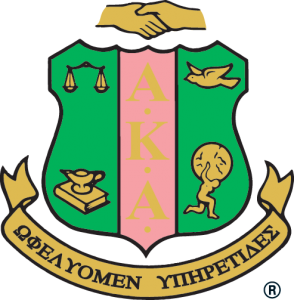 Insignia for sorority AKA with motto