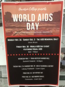 Poster listing World AIDS Day events