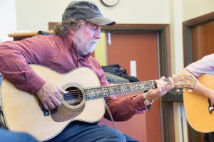 Wayne Henderson playing the 700th guitar he constructed while visiting Davidson College.
