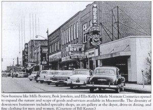 Cars parked along Main Street Mooresville