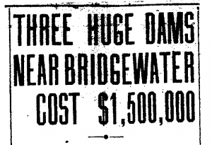 Headline from the Charlotte Observer.  In the days following the flood, plans were finalized to construct three new hydroelectric dams further north on the Catawba in order to generate power and try and prevent a flood of this magnitude from occurring again.