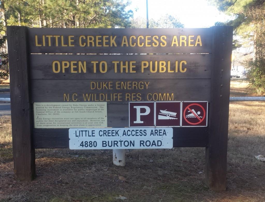 Little Creek access area entrance